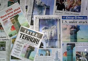 Newspaper headlines that reported on this tragic event
