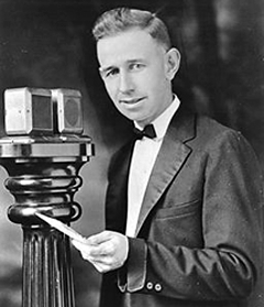 Harold Arlin, the first play-by-play announcer.