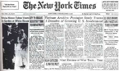 pentagon papers definition 1971 | supreme court allows publication of pentagon papers image the lawyers who represented the times before the supreme court in the 1971 pentagon papers case included james goodale, second from .