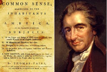 thomas paine's common sense Published anonymously by thomas paine in january of 1776, common sense was an instant best-seller, both in the colonies and in europe it went through several editions in philadelphia, and was republished in all parts of united america.