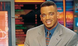 Stuart Scott at the SportsCenter desk. Credit: http://www.xxlmag.com/news/2014/07/stuart-scott-xxl-magazine-interview/