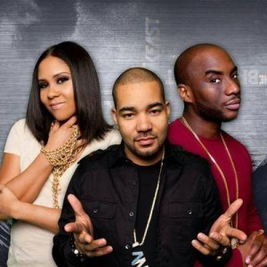 The Breakfast Club personalities: Angela Yee, DJ Envy, and Charlamagne Tha God. Credit: https://www.facebook.com/breakfastclubam/timeline