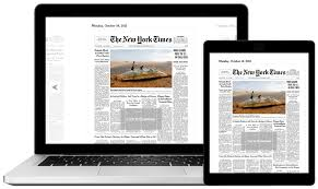 Digital versions of the New York Times