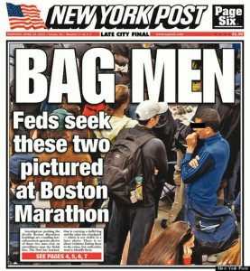 New York Post cover mistakenly identifies Boston bombers