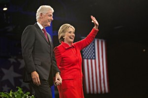 Presidential Candidate Hilary Clinton with husband President Bill Clinton. CREDIT: http://time.com/4177436/hillary-clinton-juanita-broaddrick/